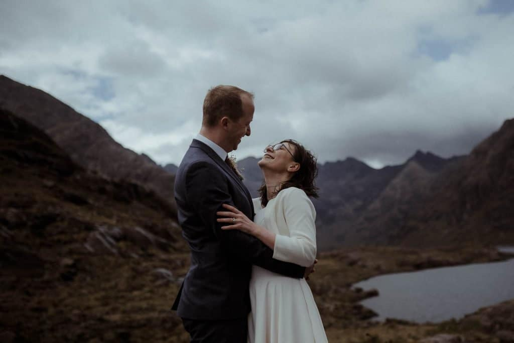 couple-laughing-at-their-loch-coruisk-elopement-on-the-isle-of-skye