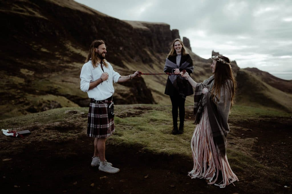 Quiraing Elopement Hand-Fasting Ceremony on the Isle of Skye